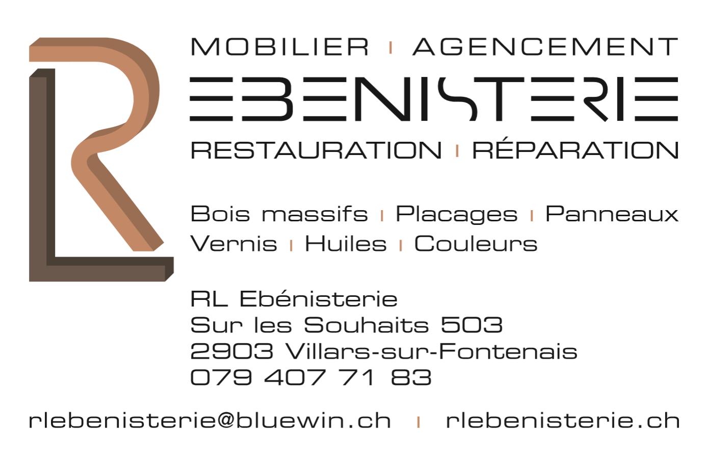 Carte de visite RL Ebénisterie