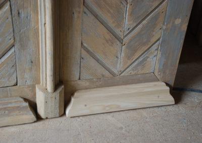 Restauration porte d'entrée Chapelle Sainte-Croix Fontenais